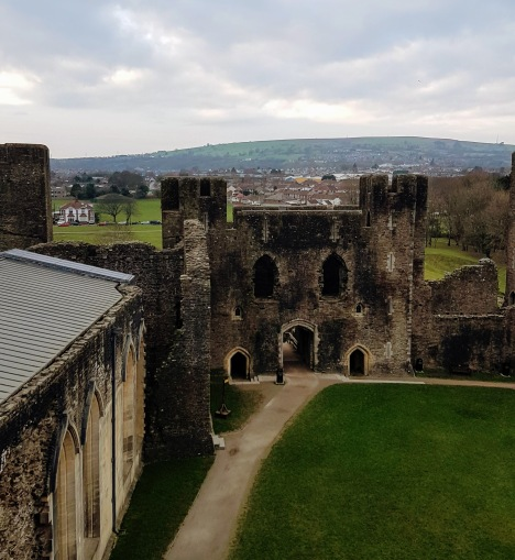 Caerphilly Castle from the inside